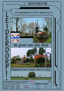Poster groei van een dorp 1930-2013